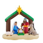 65 ft LED Inflatable Nativity Scene LED lights use less energy cool to touch