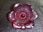 Lalique ANEMONE Red Crystal Small Sculpture Collectible