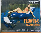 Intex Inflatable Floating Lounge Recliner Chair with Cup Holders Pool Lake