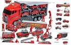 10 in 1 Die cast Fire Truck Engine Vehicle Mini Rescue Emergency Fire Truck Toy