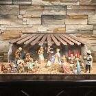 Hummel Goebel Christmas Nativity Set Of 19 Pieces With Vintage Crche Manger