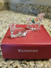 Waterford Crystal The Nativity Collection Sheep Lamb pair in red storage box