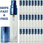 10 ML HIGHEST QUALITY Atomizer Blue Spray Perfume Cologne Bottle Refillable USA