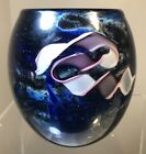 SIGNED STUDIO ART GLASS PAPERWEIGHT STYLE VASE EARLY JOSH SIMPSON 1980 UNIQUE