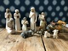 Willow Tree Angels Nativity Scene Stable Animals and Wise Men
