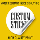 Custom Sticker 1 inch Round for Walls Cars Books and Stick on cold drink