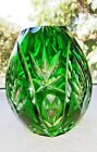 Vintage Cut To Clear Beautiful Bohemian Czech Egg Shaped Vase 45 Tall