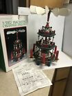 VINTAGE WOODEN CHRISTMAS 3 TIER NATIVITY PYRAMID WINDMILL CAROUSEL CANDLES 141