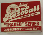 1989 TOPPS TRADED SET 132 CARDS CASE FRESH KEN GRIFFEY JR ROOKIE CARD