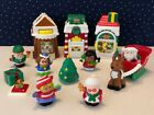 Fisher Price Little People Christmas Village Musical Tree COMPLETE + Extra Kids