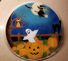 Peggy Karr 11 HALLOWEEN Plate Pumpkin Patch Black Cat Witch Ghost Signed