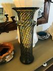 Stunning  RARE Andy Magdanz Multi Colored Swirl Art Glass Vase Signed 10 1 2