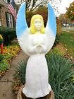 Blow Mold Union Angel With Blue Wings Christmas Lighted Outdoor Nativity
