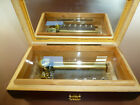 Vintage Reuge Music Box 72 3 Plays Ave Maria With Nativity Scene Wooden Case