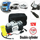 Pro Dual Cylinder Air Pump Compressor Car Auto Tire Inflator Heavy Duty 150 PSI