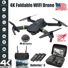 Drone X Pro WIFI FPV 4K HD Camera Foldable RC Quadcopter Selfie Drone+3 Battery