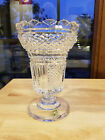 Waterford Crystal Hibernia Master Cutter Vase Footed Period Piece 8 1 2 Boxed