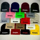 3D Embroidered Compton Unisex Beanie Cap Hat 20 Color's Handmade Top Quality