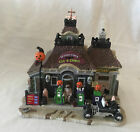 Retired 2011 LEMAX Halloween Village GAS 'N GHOUL Light Up Building SPOOKY TOWN