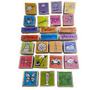 Lot of 25 assorted rubber stamps by Vap Scrap Flower Car Candle Shoe Words Cake