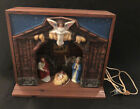 Vintage Royal Electric Christmas Nativity Display Light Up