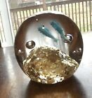 Beautiful Art Glass Fish Swimming Reef Paperweight Sculpture Nice