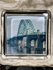 Fine RARE Eximious London Glass Paperweight w Image of a Bridge ca 20th C
