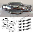For 2013 2014 2015 Chevrolet Malibu Door Handle Covers  Bowls NEW Chrome