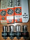 4 Strong Matched GE Silver Round Plate Side FAT D Getter 6SL7GT Tubes