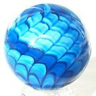 James Alloway Shade Of Blue Snakeskin Glass Marble 2082 5289mm 1982 Sphere