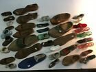 Lot of 40 Collectible Shoes Wood Glass Metal Ceramic