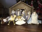 Pottery Barn Kids Felt Nativity Set Creche de Noel Holiday Christmas Decor