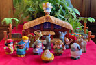 Fischer Price Little People Christmas Story Nativity Music Light Complete 18 Pc