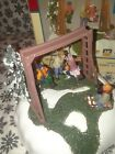RARE Lemax Swing Time Table Accent Christmas Village Santa Enchanted Forest 2007