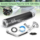 Performance Racing Exhaust Muffler Pipe GY6 125cc 150cc Aluminum Moped Scooter