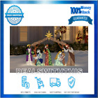 NATIVITY SCENE Christmas Outdoor Decoration Weather Resistant White LED Lights