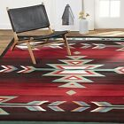 Aztec Area Rug Native American Red Turquoise Green Arrow Accent Floor Carpet 5x7