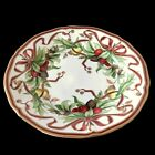 TIFFANY  CO Salad Plate Holiday Garland 775 in Christmas Vintage 1990s Mint