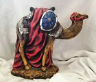 Very Large Vintage Nativity Camel Chalkware Plaster 11 h Hand Painted
