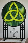Hand Crafted  Art Sculpture Stained Glass Celtic Trinity Knot