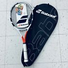 New Babolat Boost S Strung Tennis Racket 4 3 8 Grip White Red with Case