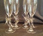 Marlin Fish Champagne Glasses Set of 4