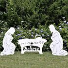 Believe Holy Family Outdoor Nativity Set Big Sale