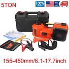 Impact Wrench 5Ton Car Jack Electric Hydraulic Jack Car Floor Jack + Wrench