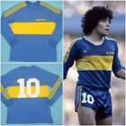 Boca Juniors 1981 Diego Maradona Retro Shirt Vintage Football Jersey Fan Version