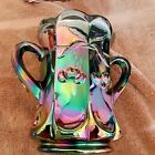 Vintage Purple Carnival Glass Two Handled Spooner Cherry Cable Mosser