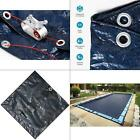 8 year 20 ft x 40 ft rectangular navy blue in ground winter pool cover