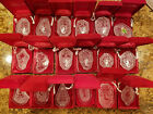 Waterford Crystal 12 Days of Christmas 18 pc Ornaments set with1982 Partridge A+