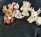 4 Ty Beanie Sleighbelle Rooftop Chillingsly 1998 Holiday Bear