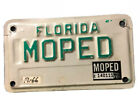 Vintage FLORIDA MOTORCYCLE MOPED LICENSE PLATE Vanity Tourist Rare Sample